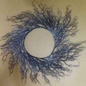 Dazzling Silver Winter Twig WREATH